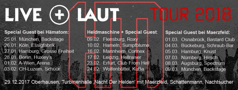 'LIVE+LAUT' ALBUM+TOUR 2018 ANNOUNCED !
